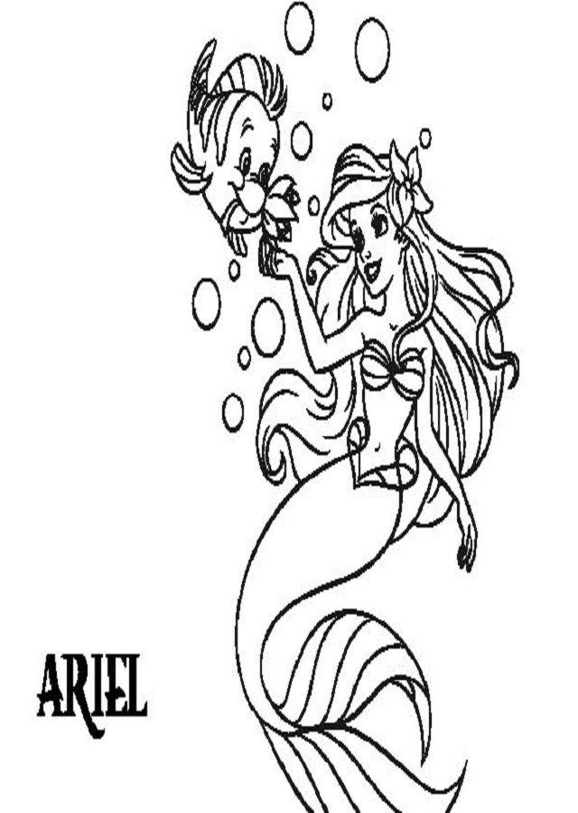 Dibujos Para Colorear La Sirenita Dibujos Para Colorear
