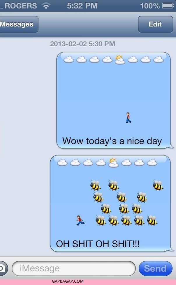 Hilarious Emoji Conversation ft. Funny Bees