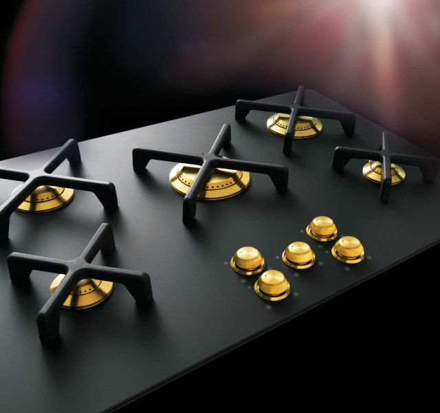 Smeg Black and Gold Gas Range by Marc Newson that is ridiculous but I love it