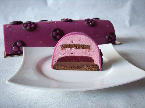 bûche chocolat framboise (recette clic sur photo)