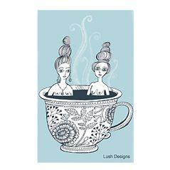 Tea Cup Ladies Tea Towel, 48 x 76 cm