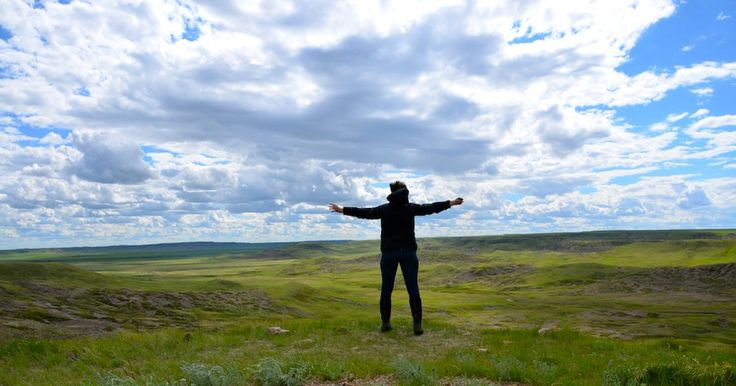 """Imagine standing on top of a massive hill, as far as your eyes can see, there is not a speck of civilization. No roads, no fences, not even a cell tower to obstruct your view... Welcome to Grasslands National Park"" - the Saskatchewanderer"