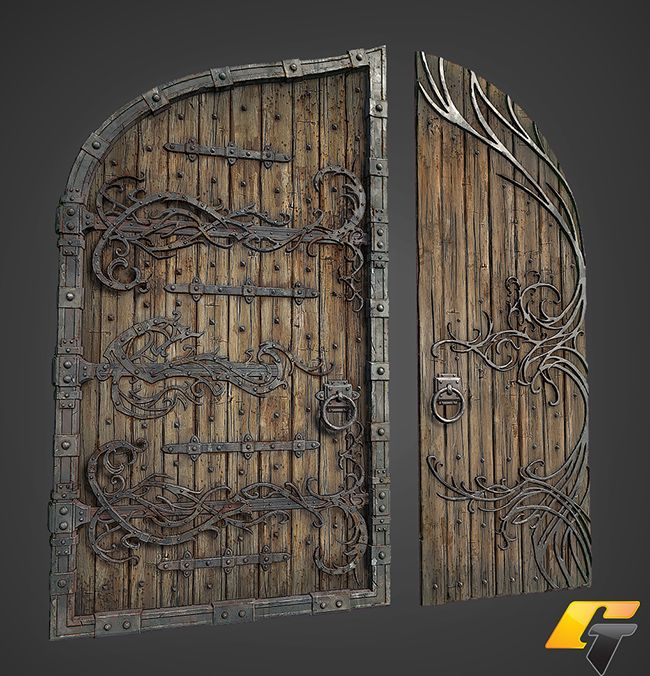 I like the wood texture in this image. I figure I could use this as one of my references when creating the door in my scene.