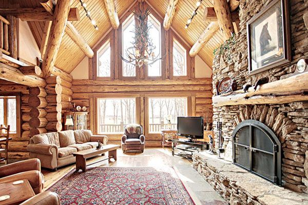 1000 Images About Rustic Great Rooms On Pinterest Studio Interior Cabin And The Fireplace