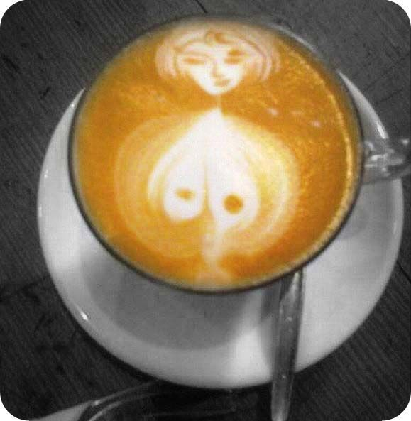 """Carpe mammarium."" Seize the breast! Monday Morning Coffee and Gazongas"