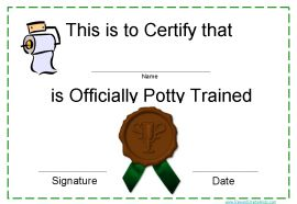 congratulate child on potty training