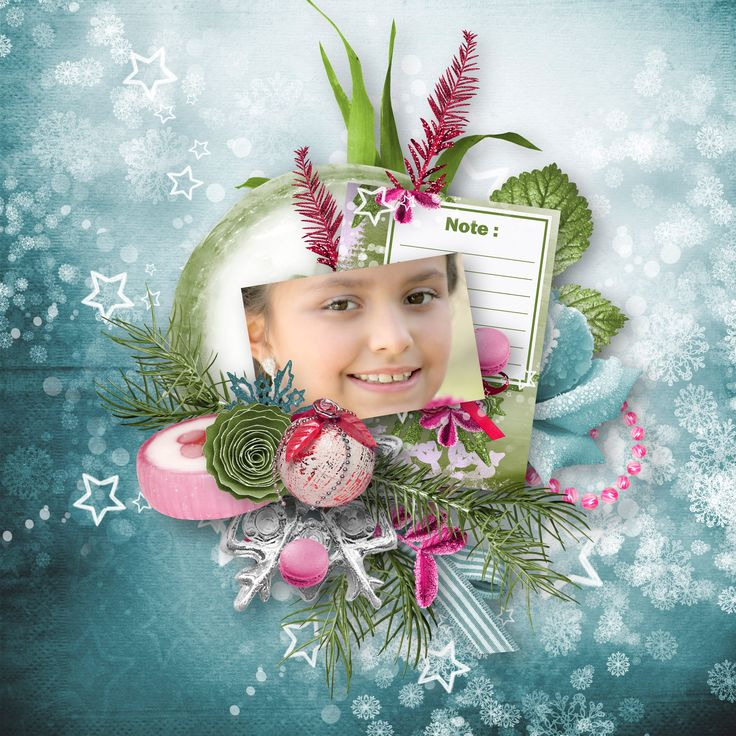 """Greedy December"" by Aurélie Scrap, https://digital-crea.fr/shop/index.php?main_page=index&manufacturers_id=199, photo Cheryl Holt, Pixabay"