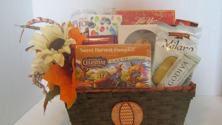 Fall Gift basket- Gift basket- Tea gift basket by CWGiftBasketDesign on Etsy