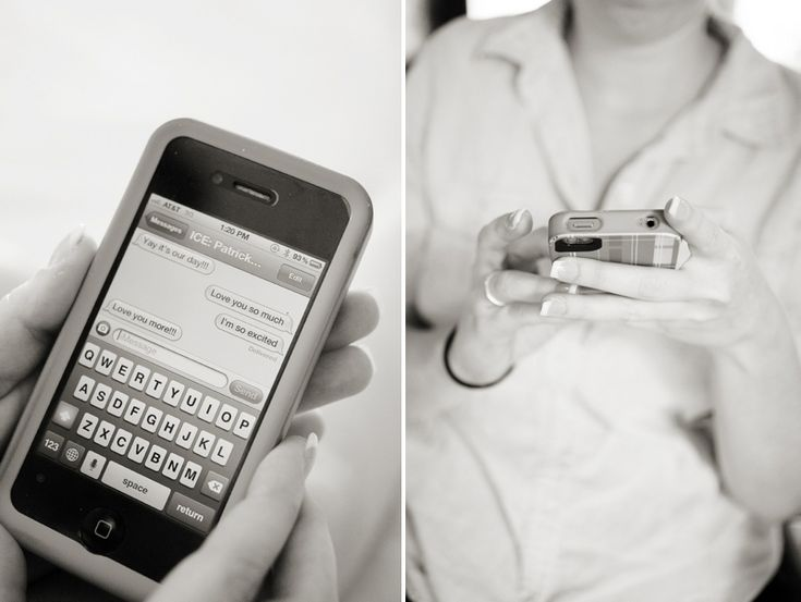 Like the idea of capturing the pre-wedding texts between the bride and groom