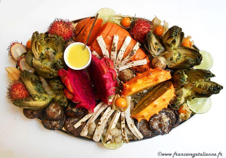 Plateau de fruits de mer et terre (végétalien, vegan) — France végétalienne
