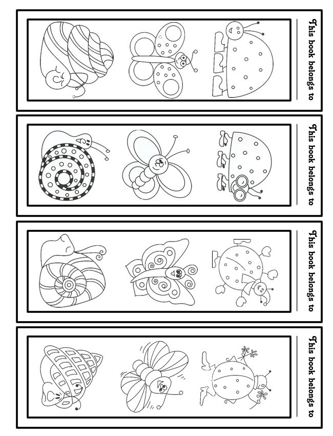 Library Bookmarks to Color | Bookmarks For Kids To Color