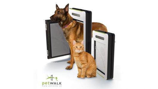 These new #pet #doors by Petwalk are revamped for #builders of high-tech homes. Clients with outdoor animals will love the range of options for sensors and designs.