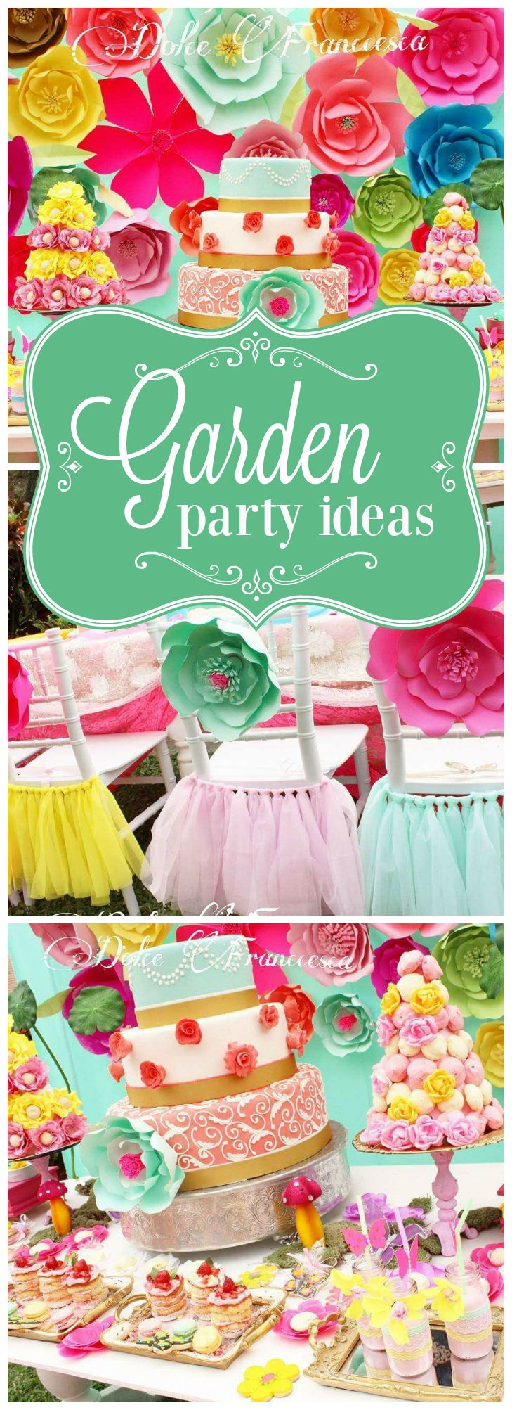 Love the gorgeous flowers at this garden party! See more party ideas at CatchMyParty.com!