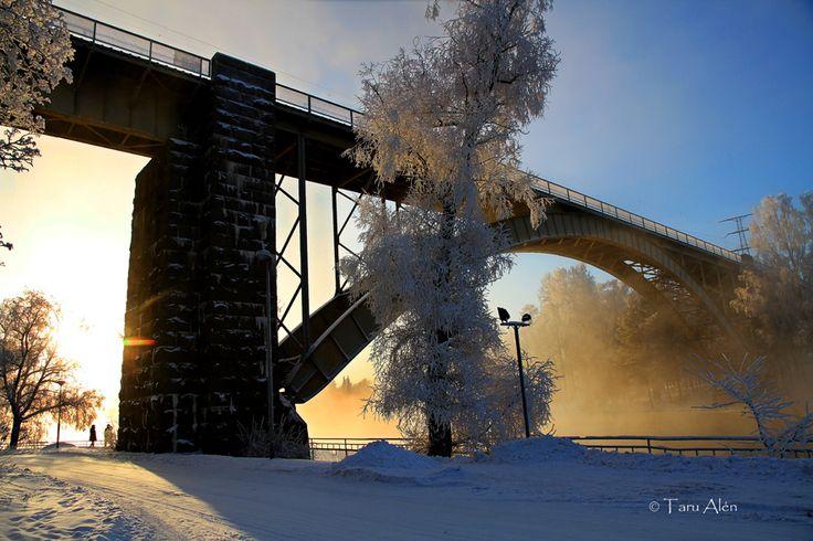Heinola Finland, -30 degrees