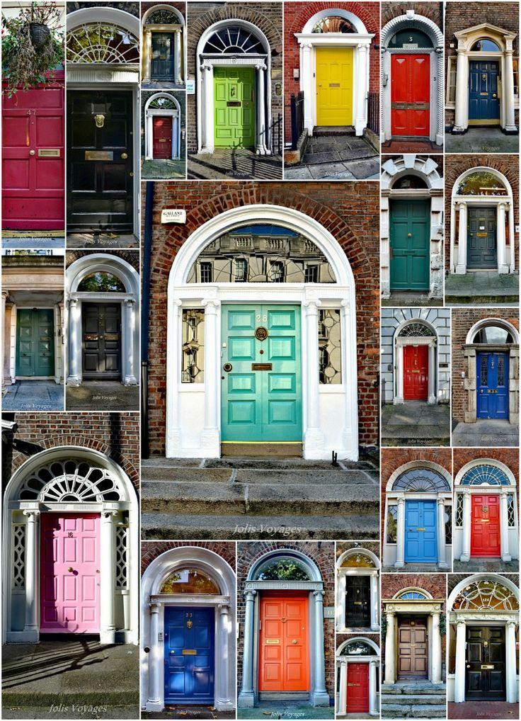 Je vous propose une balade photographique à la recherche des plus jolies portes Dublin ! Enjoy !