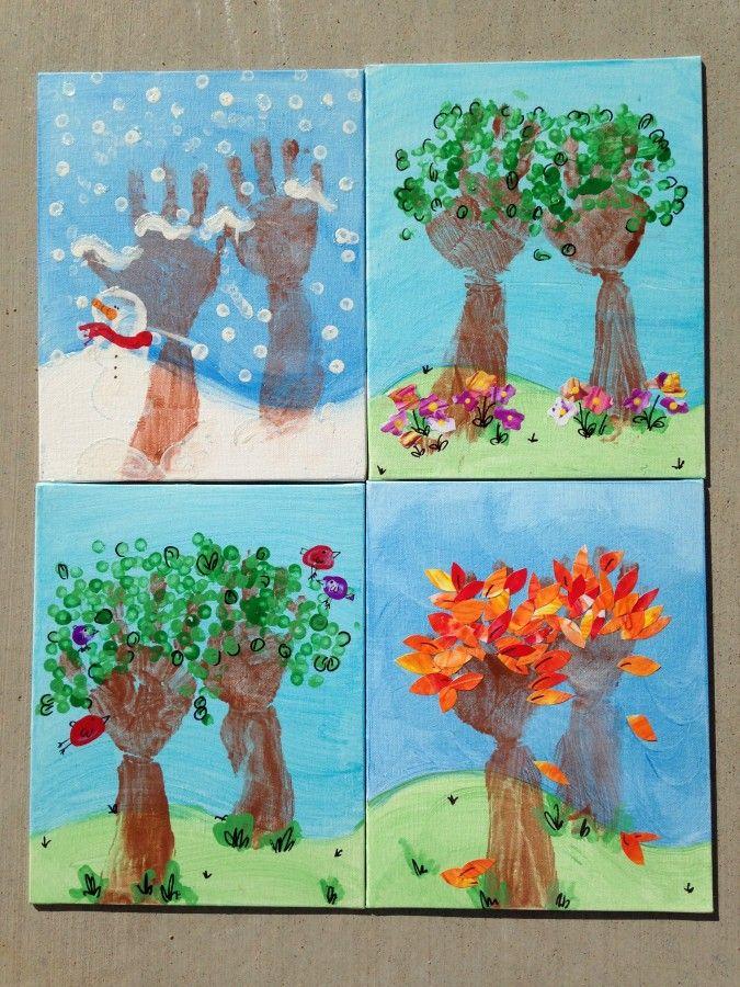 Seasons of Love Handprint Art + Flash Giveaway! - A Mom's Take