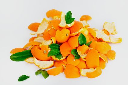 Deodorizer - orange peels release natural oils causing a citrus scent.
