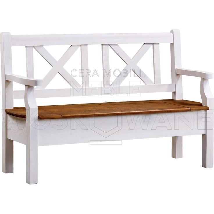 Drewniana ławka do siedzenia z kufrem. Bardziej piękne czy klasyczne?