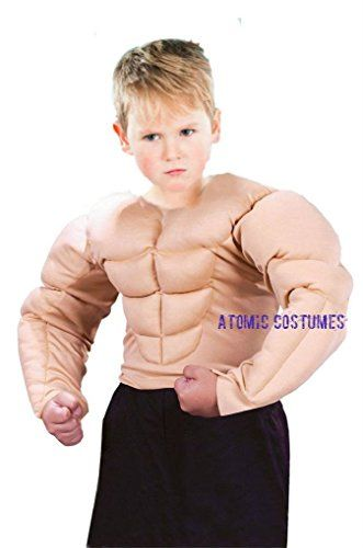 Ponce Boys Padded Muscle Chest Suit Arms Childrens Muscular Shirt Costume Kids -- You can find more details by visiting the image link.
