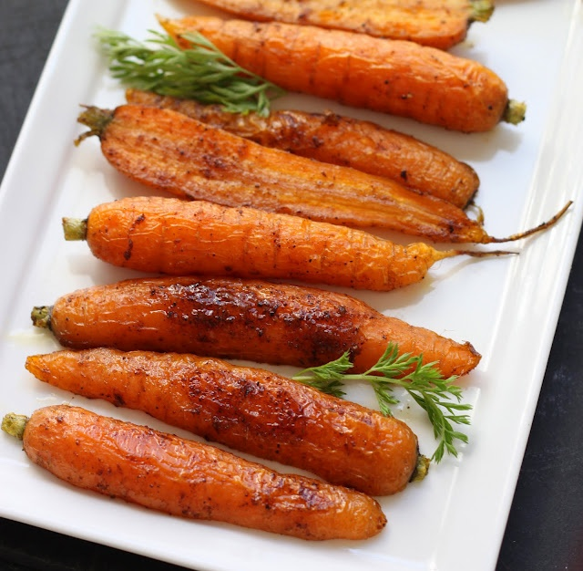 Spice Roasted Carrots. I'll tell my mom she can eat carrots in other way. (Her medication forces to eat more vegetables and fruits)