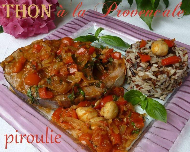 Darnes de thon à la provencale (avec basilic et vin blanc)