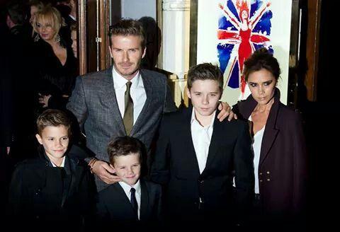 Family Beckham & Burberry