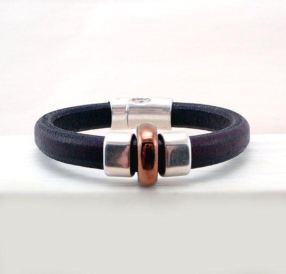 Brown Licorice Leather Bracelet Regaliz Bracelet by TouchOfSilver, $30.00