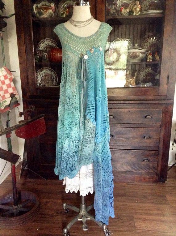 Luv+Lucy+crochet+dress+Lucy's+Mermaid+In+by+LuvLucyArtToWear,+$260.00