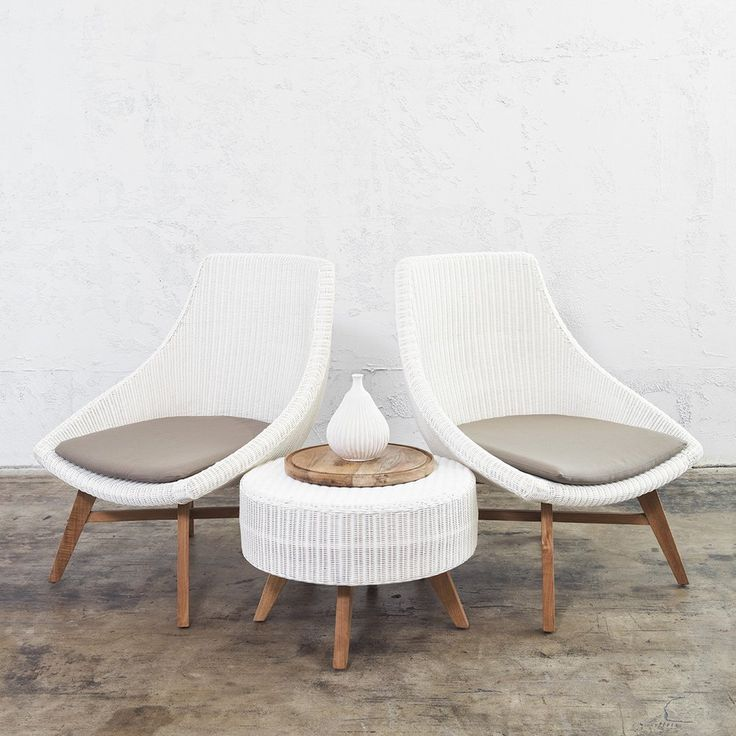 WICKER LOUNGE CHAIR  |  WHITE