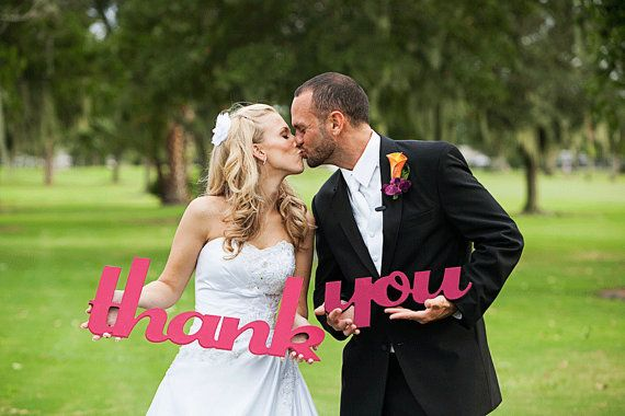 Thank You Sign Wedding Signs Photo Prop for Card  by ZCreateDesign