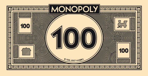 Print your own (Monopoly) money. Free printable templates. Useful for games and icebreakers.