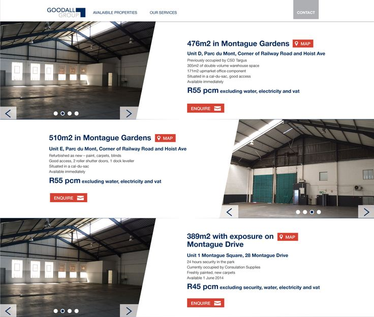 Goodall, Web design, diagonal, properties, corporate
