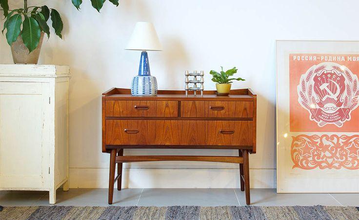 北欧家具ビンテージミディアムチェスト/チーク&ウォールナット