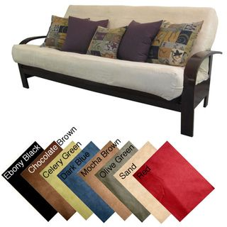 Ultima Queen-size Microfiber Soft Suede Futon Cover | Overstock.com Shopping - Top Rated EpicFurnishings Solid Futon Covers