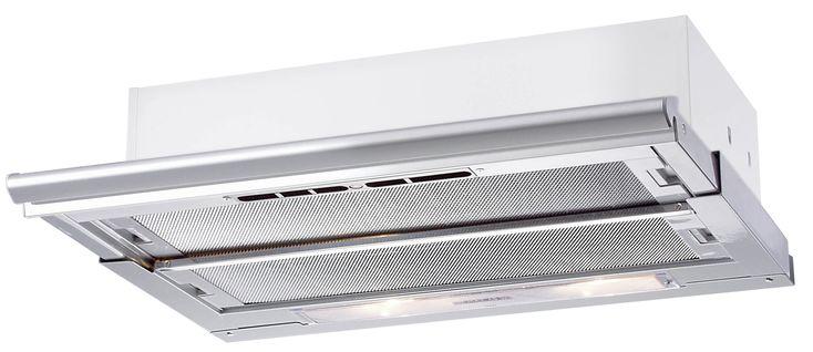 Flachlüfter  Blende Aluminium  Breite : 60 cm Ausstattungsmerkmale Bedienung : 3-Stufen-Schiebeschaltung  Leistungsstufen : 3 Normalstufen  Beleuchtung : 2 x 7 W Energie-Sparlampen Besonderheiten : Metallfettfilter...