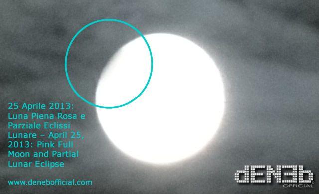 25 Aprile 2013: Luna Piena Rosa, Parziale Eclissi Lunare e Saturno! – April 25, 2013: Pink Full Moon, Partial Lunar Eclipse and Saturn!