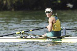 TWA-0050851 © WestPix 2016 Rio Olympics. Rio de Janeiro, Brazil. Rowing. Women's single sculls. Kim Brennan. Picture: Simon Santi The West Australian