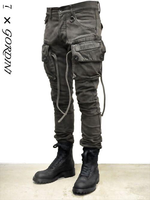 _Julius for Gordini narrow gasmask cargo pants