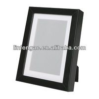 Black finished medium density fibreboard wholesale shadow box picture frame