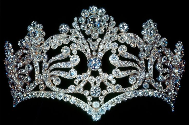 "Coronation tiara of Empress Josephine. ""It was the property of empress Josephine. Nowadays it's owned by Van Cleef & Arpels. """