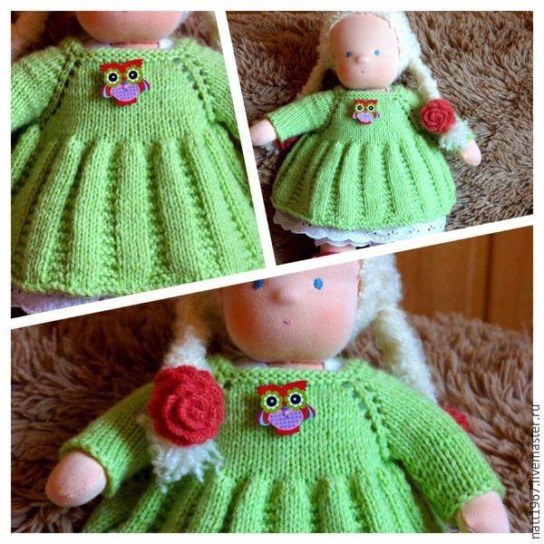 Вяжем платье для куклы, схема