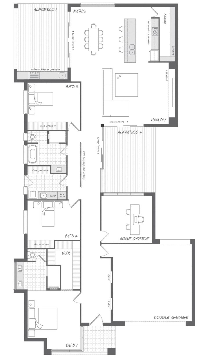 The Stirling - the Abode Collection. Enjoy every aspect of family life in this home. #weeksbuilding #home #house #floorplan