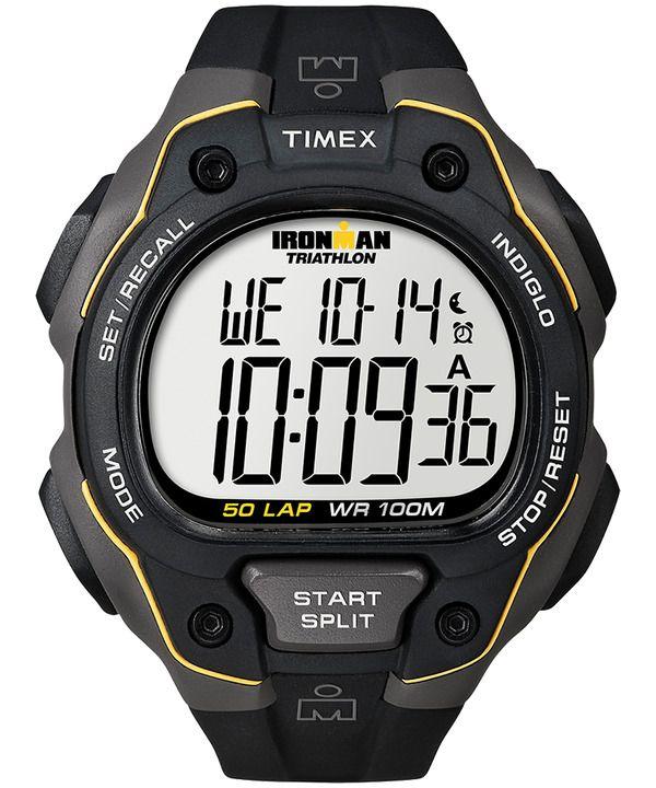 New Men s Timex IRONMAN Classic 50 Full-Size Resin Strap Watch T5K494CS   Timex dbe890443d