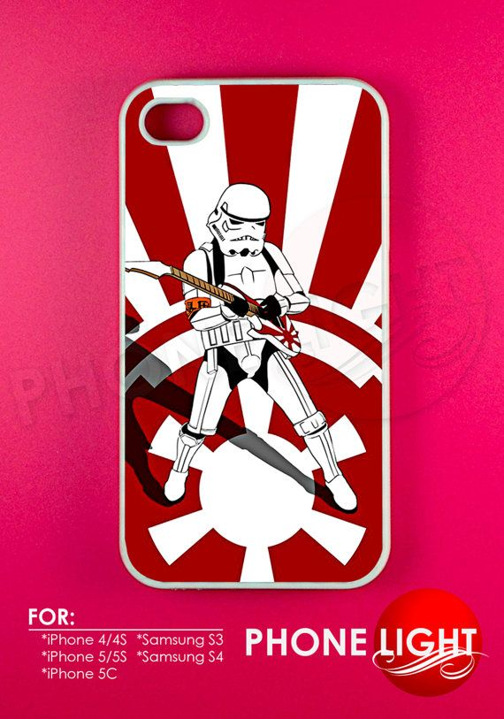 Stormtrooper Playing The Guitar Phone Case  Rubber by PHONELIGHT, $13.99