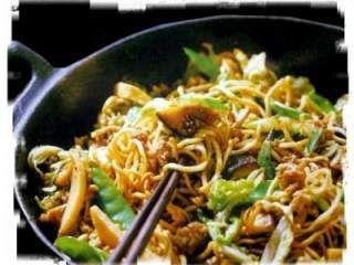 Salteado chino de Verduras y Ternera