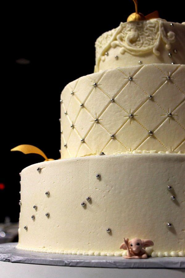 Harry Potter Cake Wedding Gold Snitch Buttercream