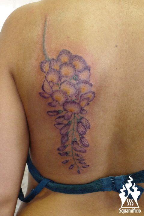 glicine flower tattoo