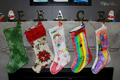 decorated christmas stockings coloring pages - photo#35