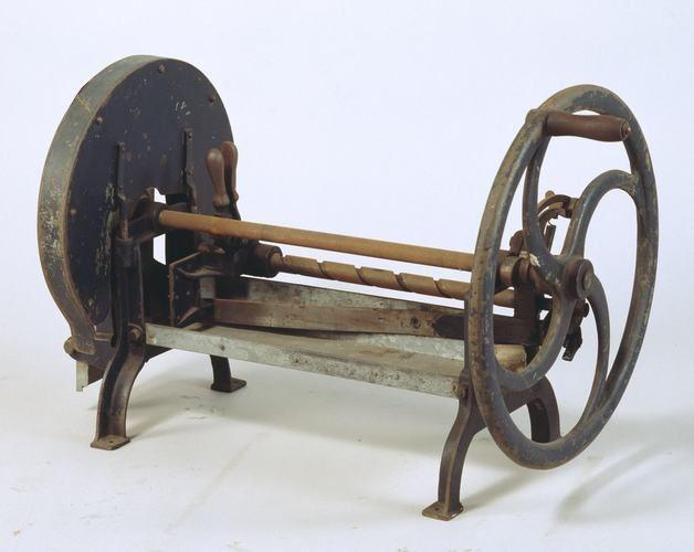 Bread Slicing Machine - Hand operated - used at Beechworth Lunatic Asylum, Victoria, Australia, circa 1940