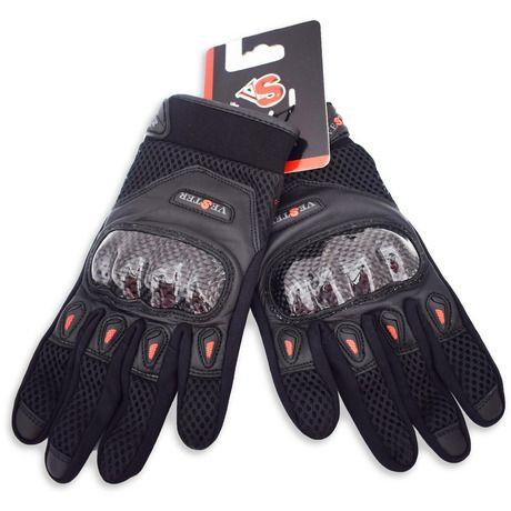 Καλοκαιρινά γάντια μηχανής Solar από τη Vester. Ιδανικά για τις απαιτητικές ζεστές καλοκαιρινές μέρες, χωρίς όμως να υπολείπονται σε προστασία και άνεση. Φέρουν velcro στο σημείο συγκράτησης στον καρπό για ασφαλή εφαρμογή, kevlar προστ...